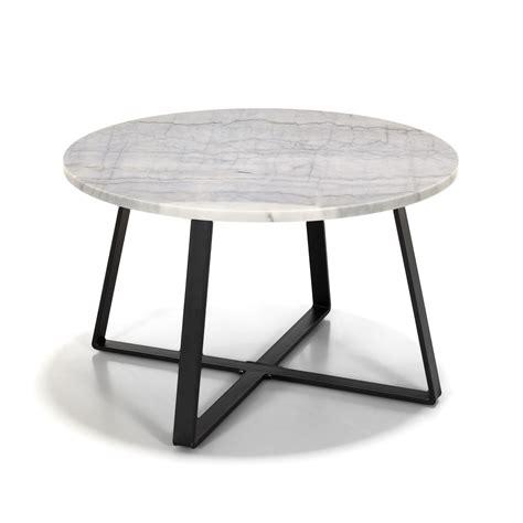 Table Basse En Marbre Blanc by Table Basse En M 233 Tal Avec Plateau En Marbre Blanc Et Noir