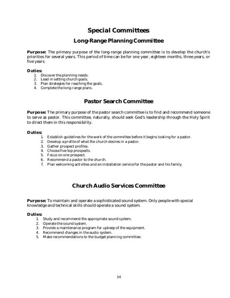 Policy And Procedure Manual Church Sle Church Policy And Procedures Manual Template