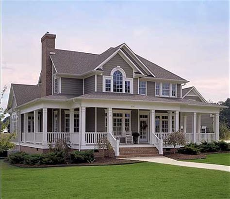 Wrap Around Porch Home Plans by Wrap Around Porches On Farmhouse House Plans