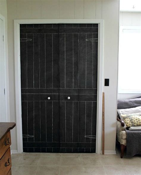 Chalkboard Closet Doors Diy Closet Door Update Turn Plain Doors Into A Chalkboard The Creek Line House