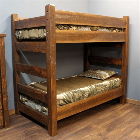 rough bed timberwood barnwood bunk bed