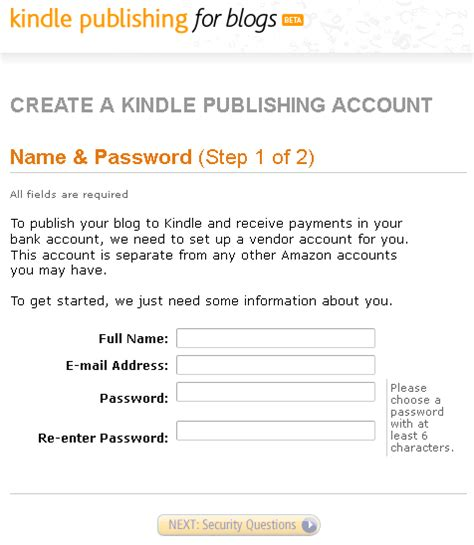 amazon kindle account how to make your blog available for subscription through
