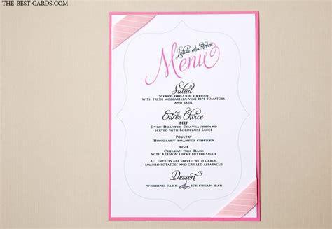 layout for wedding menu unique inexpensive wedding menu cards wedding card