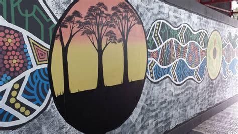 aboriginal artist rebecca beetson completes mural