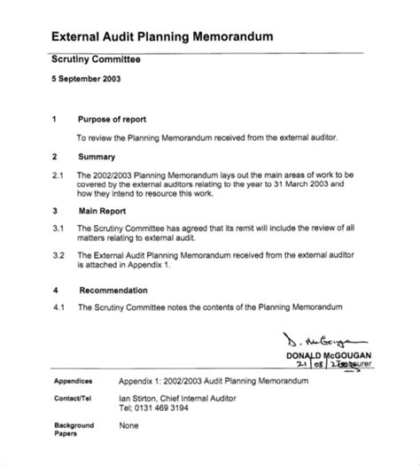 Planner Memo Schedule Medium audit plan templates name improving your iso