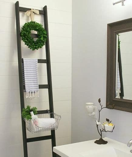 bathroom storage ladder clever organizing solutions for even the tiniest bathroom