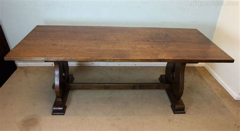 Large Solid Oak Dining Table Antiques Atlas Large Solid Oak Refectory Farmhouse Dining Table