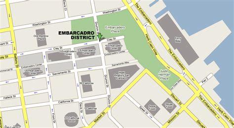san francisco map financial district embarcadero district map shopping guide san francisco s