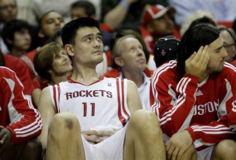 yao ming bench press tower of success relive the historic career of yao ming