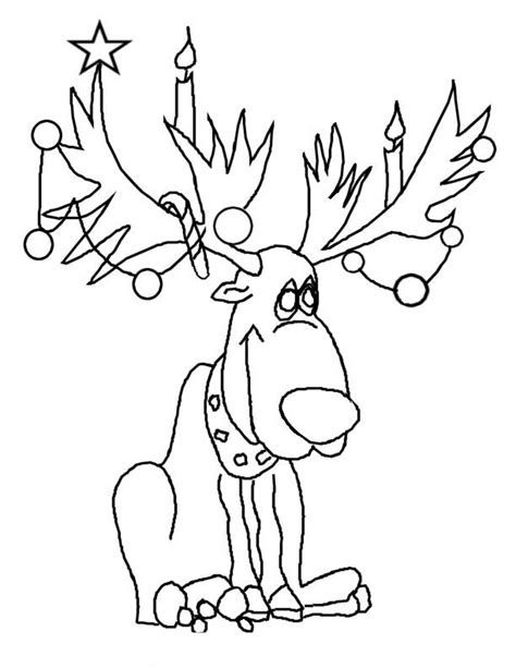 coloring pages of christmas reindeer christmas reindeer coloring pages