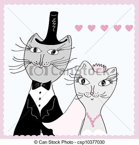 sposi clipart disegni di divertente sposo gatti sposa divertente