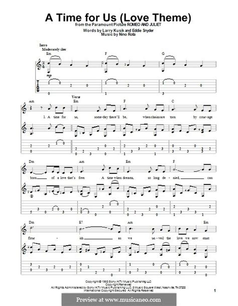 romeo and juliet theme guitar a time for us love theme from romeo and juliet by n