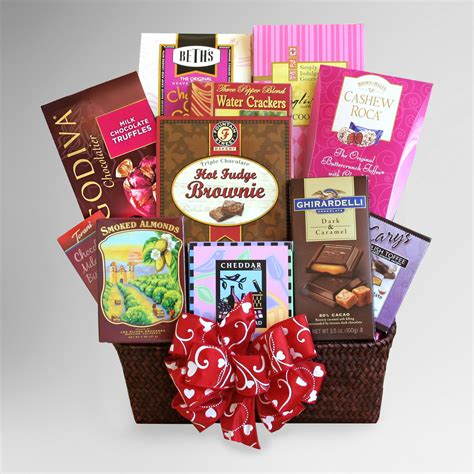 valentines day gift baskets for sweeten up s day with a delicious gourmet gift
