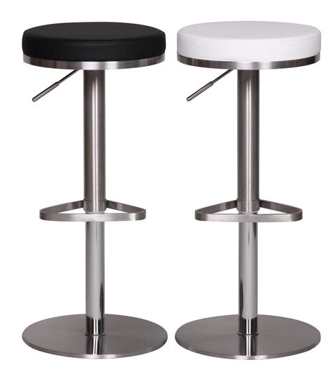 Stainless Steel Bar Stool Bar Stool Chair Counter Stool Stainless Steel Brushed White New Faux Leather