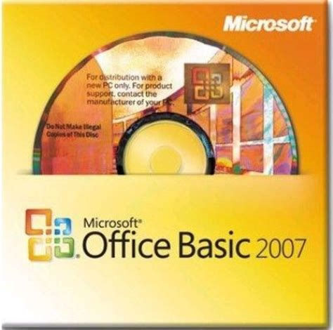 Microsoft Office Basic 2007 by Microsoft S55 02516 Oem Office Basic 2007