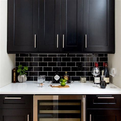 black kitchen backsplash best 25 black subway tiles ideas that you will like on black and white bathroom