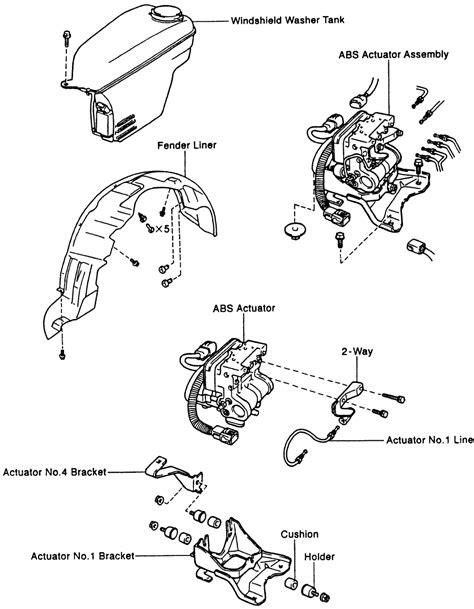 repair anti lock braking 1997 toyota corolla parking system repair guides anti lock brake system abs actuator autozone com