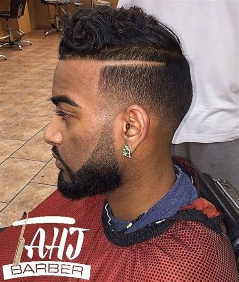 hair parts for black boys 50 stylish fade haircuts for black men in 2018