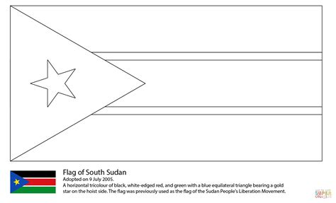South Sudan Flag Coloring Page Images South Flag Coloring Page