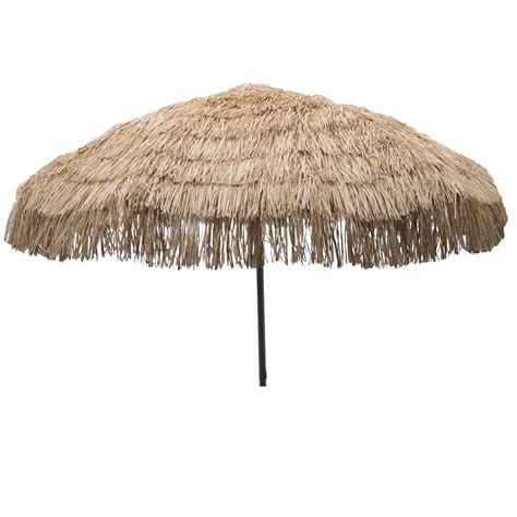 destinationgear palapa tiki umbrella 7 6 quot whiskey brown patio pole ebay