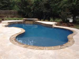 freeform pool custom swimming pool and spa photos charlotte waxhaw