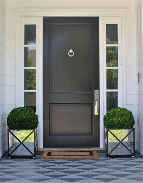 20 Impressive Ways To Frame Your Front Door With Planters Out The Front Door