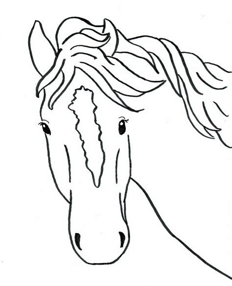 simple horse coloring page horse head coloring book pages hot girls wallpaper