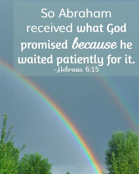 verses for 31 days of bible verses about patience hebrews 6 12 15