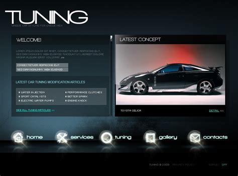 template flash per un sito di auto tuning