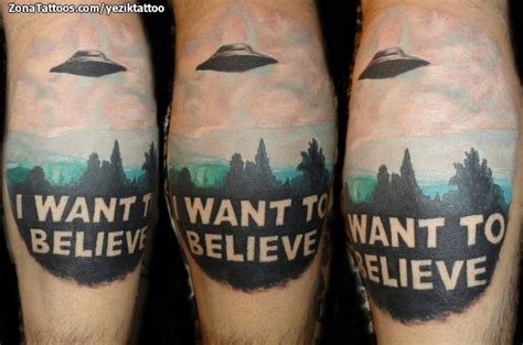 i want to believe tattoo i want to believe spaceship on back leg