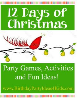 twelve days of christmas party ideas