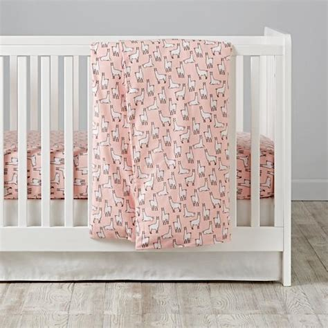 Flannel Crib Bedding Pink Llama A Rama Flannel Crib Bedding