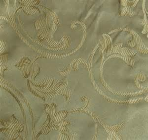 Upholstery Fabric Jacquard Spiral Gold Floral Design Drapery Upholstery