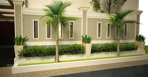 model pagar rumah minimalis  tembok  besi