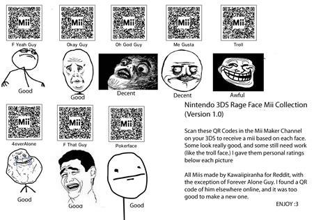 Meme Qr Code - cool mii characters memes