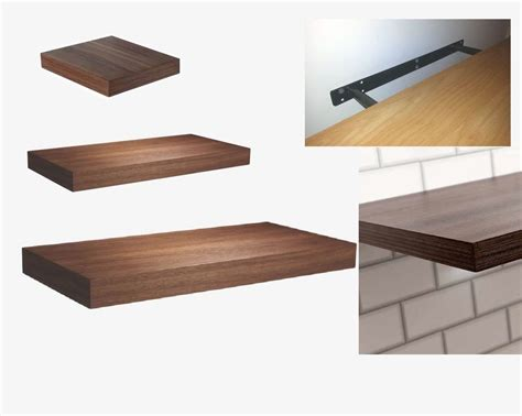 wall mounted kitchen shelves hudson walnut floating wall mounted shelf kitchen bath