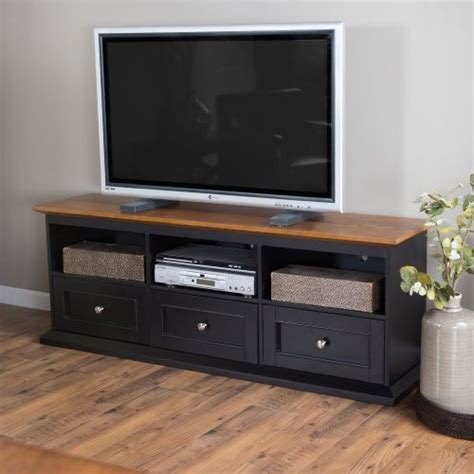 Belham Living Hton Tv Stand With Drawers Black Oak