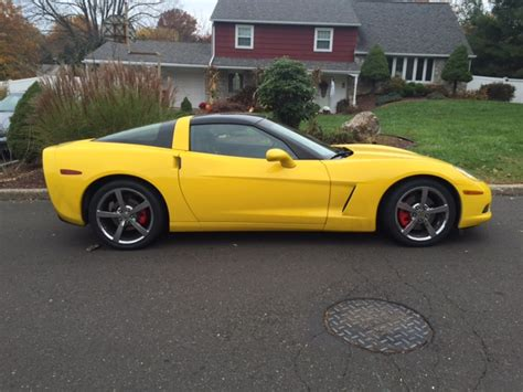 corvette c6 yellow black out rims on yellow c6 corvetteforum chevrolet