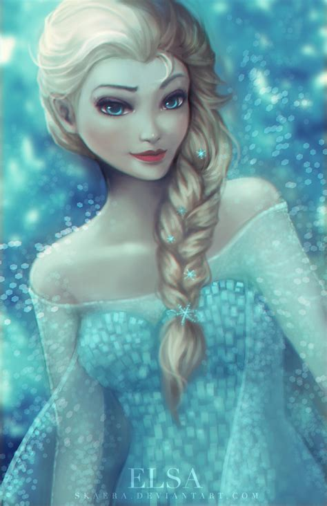 elsa painting elsa by skaera on deviantart