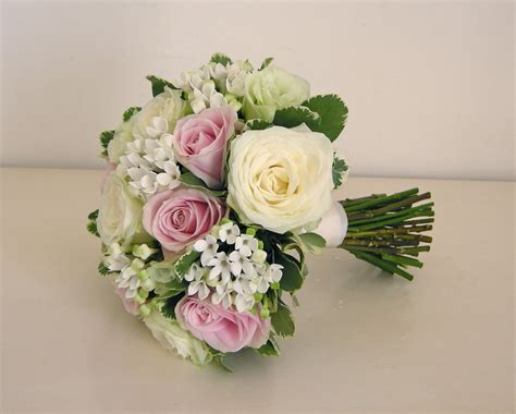 green and pink wedding bouquets wedding flowers s classic green white and