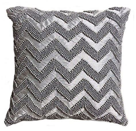 tahari chevron beaded decorative toss pillow cover bugle