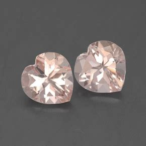 Light Pink Morganite 6 62ct 2 07 ct total facet light pink morganite 6 9 x 6 8 mm