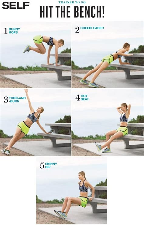park bench exercises trainer to go hit the bench tone all over with these do