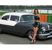 Lovely Leather Lady Leaning Beside Classic Car &171 Fotogallery Very