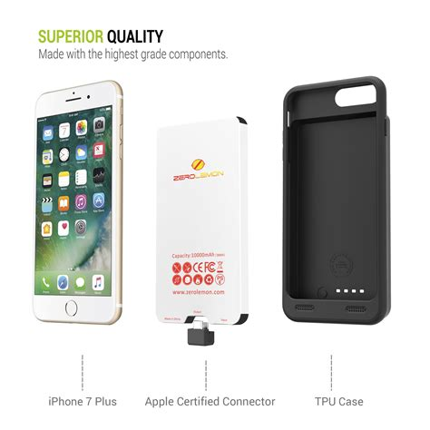 iphone 8 plus extended battery 10000mah zerolemon