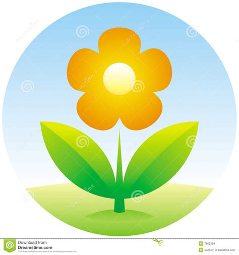 Vector Flower Icon Stock Images   Image: 7802324
