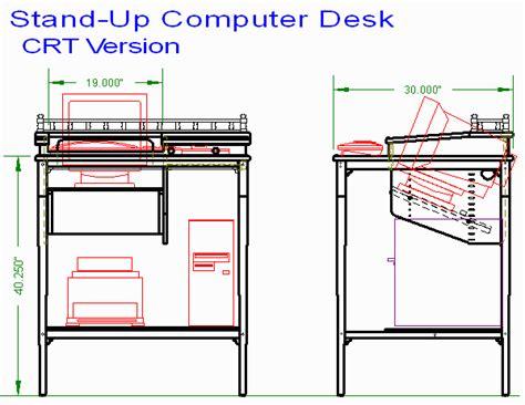 woodwork stand up computer desk plans pdf plans