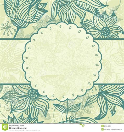 pattern with frame floral pattern with a frame in vector stock vector image