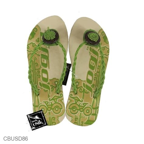 Baju Atasan Tali Kepang sandal etnik tali kepang motif becak jogja sandal etnik