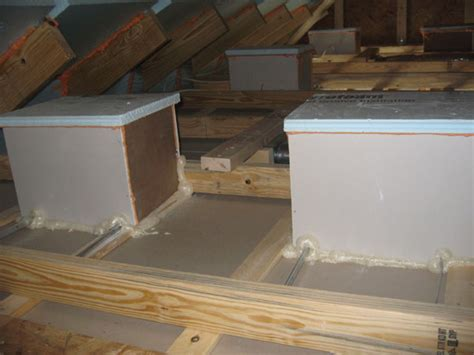 insulation box for recessed lighting hanging drywall like this can make a house more energy